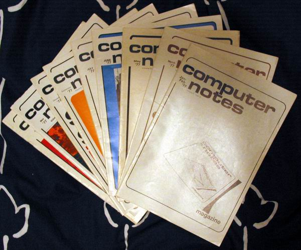 several issues of Computer Notes Magazine