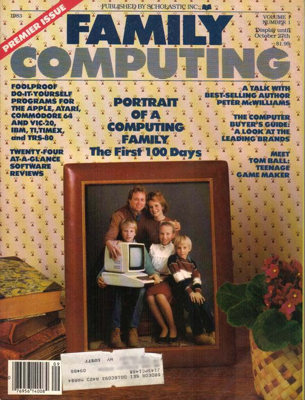 Premier Issue of Family Computing Magazine