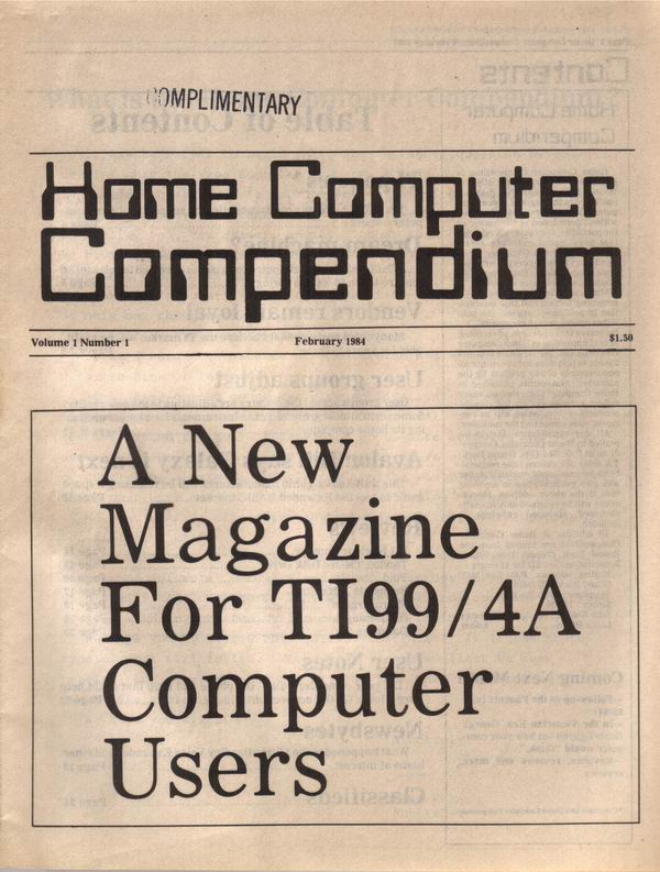 Original Issue of Home Computer Compendium - i.e. MicroPendium