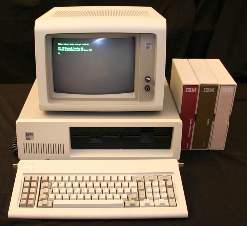 The IBM Personal Computer running DOS 1.0