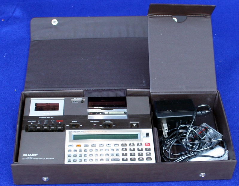 Sharp PC-1251 in its case with printer and tape drive