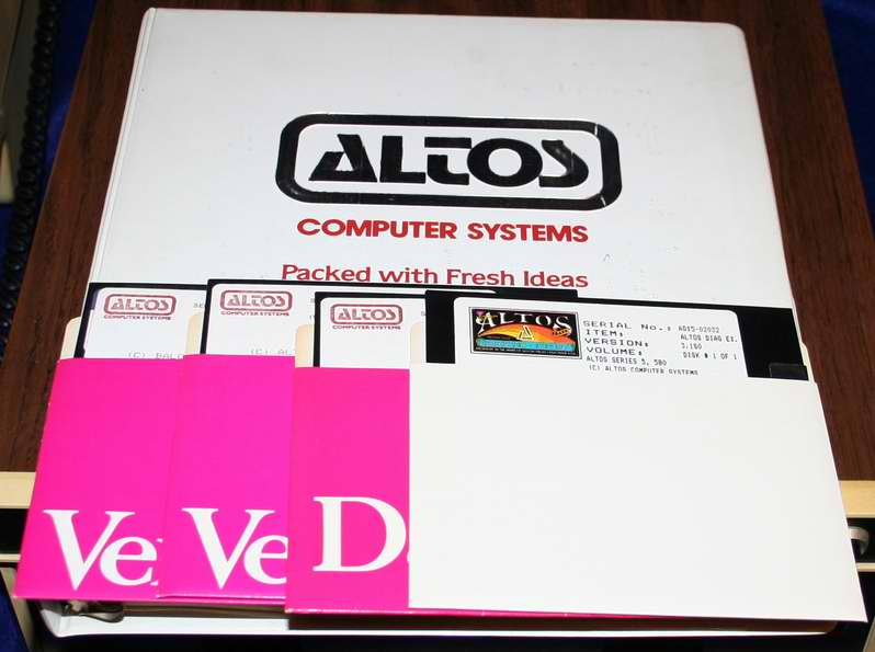 The Altos 5-15 A/D Documentation Binder