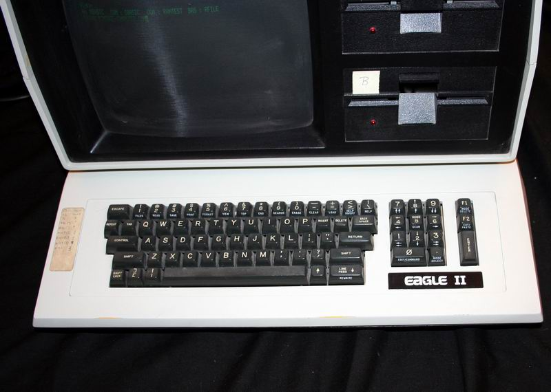close-up of the Eagle II CP/M Computer Keyboard