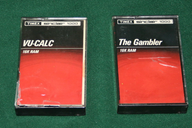 Timex/Sinclair 1000 Software Packs on Cassette